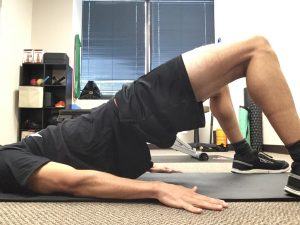 Bridges improve core and gluteal muscle strength, important for running