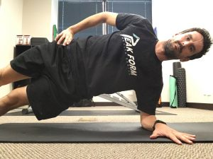 Side plank improves lateral core stability which is important for running